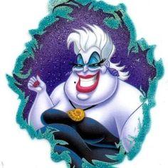 Ursula in Little Mermaid Movie Sea Witch octopus under the sea Disney Heat Iron On Transfer for T-Shirt ~ Disney Villain