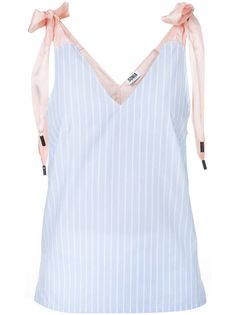 Top à nœud à ruban Sonia By Sonia Rykiel Sonia Rykiel, Mode Top, Lace Up, Blue Lace, Polyvore, Outfits, Style, Stripe Top, Tops