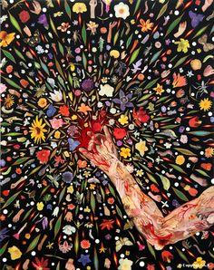 Fred Tomaselli : Bouquet - Salle VII - Le Mythe de la fleur de van ...