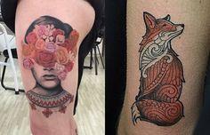 O tatuador Adalto Branco cria fantásticas tatuagens que misturam realismo, blackwork, ornamental, linework, inspiração em Old School, além de coberturas.