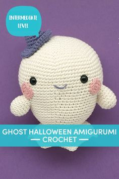 Boo is the squishy amigurumi ghost you'll love crocheting! This free Halloween crochet pattern is ideal for crochet champions and beginners looking for a challenge. | Downloadable PDF at LoveCrafts.com Halloween Ghosts, Halloween Crafts, Halloween Crochet Patterns, Paintbox Yarn, Little Monsters, Crochet Hats, Knitting, Crocheting, Challenge