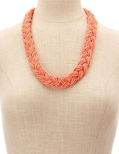 Seed-Bead Braided Necklace: Charlotte Russe