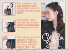 Cat Ear Hair tutorial for long hair from the May 2013 issue of Seda.