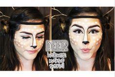 This last minute Halloween costume is all in the makeup. Go heavy on the bronzer around your cheekbones and dab on white dots there and on your forehead. Color the tip of your nose black, and drawing brown-eyeliner lines that connect your eyebrows to your nose. Find some sticks in your yard to double as antlers, and keep them in place with an elastic headband. Don't forget to dress in brown from the shoulders down to go as an adorable deer!