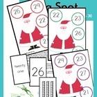 Kindergarten Math Game  Math  Numbers  Santa  Christmas Math Game  Christmas Activity  Printable  Printable Activity  Teachers Resources