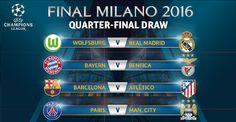 Barcelona fará clássico com Atlético nas quartas; PSG vai enfrentar o City #globoesporte