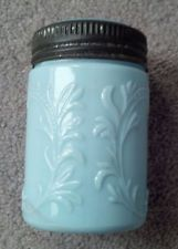 Milk Glass BLUE Fruit Jar COMPLETE RARE PINT