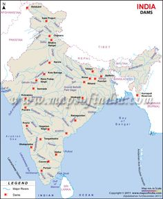 Map of Dams in India