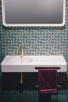 Plumbline Cirque Solid Surface - natural brass tapware