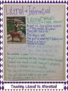 Teaching With a Mountain View- literal vs inferential