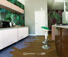"""Assista ao oitavo episódio da série """"PROJETO CRIATIVO""""! A Imprimax forneceu espaço e materiais para que arquitetos e designers de interiores esbanjassem toda a sua criatividade, mostrando as possibilidades da utilização de vinis autoadesivos na decoração de ambientes. Confira agora o resultado incrível e conceitual que a design de interiores Gabriela Dutra criou. Kitchen Island, Designers, Home Decor, Vinyls, Architects, Creative, Creativity, Log Projects, Island Kitchen"""