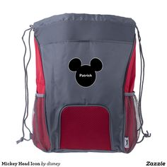 Mickey Head Icon Drawstring Backpack