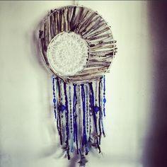 Custom-hand made cobalt dreamcatcher by Driftwood Gypsy