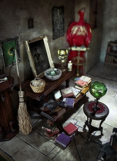 The Witch's House - miniature - detail #dollhouse #witch
