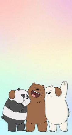 We Bear Bears We Bare Bears Wallpapers Bear Wallpaper with We Bare Bears Wallpaper For Iphone - All Cartoon Wallpapers Cute Panda Wallpaper, Cartoon Wallpaper Iphone, Disney Phone Wallpaper, Bear Wallpaper, Kawaii Wallpaper, Cute Wallpaper Backgrounds, Aesthetic Iphone Wallpaper, Free Wallpaper For Iphone, Mobile Wallpaper