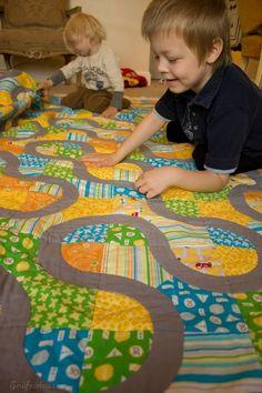 Great idea for a little boy's quilt