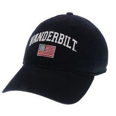 adf747f9675 Legacy Vanderbilt Commodores USA Flag Adjustable Hat (Black)
