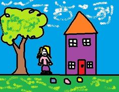 Learn how to do a modified House-Tree-Person  Art Therapy Technique Drawing from Creative Counseling 101.com.