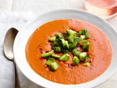 Charred Tomato Gazpacho: This chilled tomato soup from Food Network Kitchen is perfect for a light lunch or dinner.