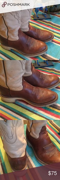 Tony Lama cowboy cowgirl western boots made in USA Awesome leather high quality boots made in ElPaso Texas. Lots of life left in these. Tony Lama Shoes