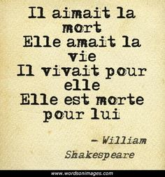 """He loves death, she loves life, he lives for her, she dies for him."" - I don't think it's really Shakespeare, but it's still pretty. William Shakespeare, Citation Shakespeare, Lyric Quotes, Words Quotes, Me Quotes, Author Quotes, Daily Quotes, Great Quotes, Quotes To Live By"