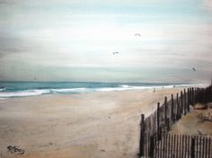 """Jersey Shore Early Spring"", Original Watercolor 8"" X 10"", USA, Kathy's Holiday, Ocean City, NJ"