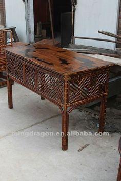 antique chinese  bamboo  furniture   muebles antiguos de china de sichuan de bambú mesa-Mesas Café ...