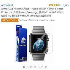 Iwatch screen protector All info is in photos. Whole kit included. Never used-bought the wrong size. Price firm. Armorsuit Accessories Watches