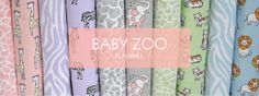Baby Zoo on Flannel - COLLECTIONS - SHOP