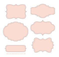 Теги розовые  Tags pink