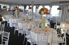 Reception area on the Eternity Boat Wedding, Yacht Wedding, Nautical Wedding Theme, Reception Areas, Photo Galleries, Table Settings, Table Decorations, Gallery, Furniture