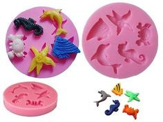 Silicone Round Mini Sea Creature Mould for sale on Trade Me, New Zealand's auction and classifieds website Tiny Fish, Fondant Decorations, Craft Work, Resin Jewelry, Sea Creatures, Paper Mache, Cut Outs, Craft Projects, Miniatures