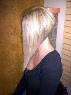 Angled Bobs, Inverted Bob, Short Hair Cuts, Short Hair Styles, A Line Bobs, Shaved Nape, Big Hair, Hairstyles With Bangs, Barber Shop