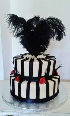 Stripe cake www.chic-dreams.co.uk