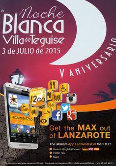 Noche Blanca en #Teguise #Lanzarote - 03.07. - 17.00 h vamos!!!