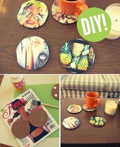 Photo Coasters: Homemade Christmas Gifts - The Happy Housewife™ :: Home Management Homemade Christmas Gifts, Homemade Gifts, Diy Gifts, Christmas Diy, Diy Presents, Holiday Gifts, Photo Coasters, Diy Coasters, Personalized Coasters
