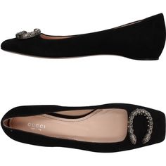 Gucci Ballet Flats (7.930 ARS) ❤ liked on Polyvore featuring shoes, flats, black, gucci flats, black ballet flats, ballerina shoes, black ballet shoes and black flats