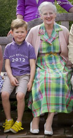 Current Monarch, Queen Margarethe, with grandson future king, Prince Christian