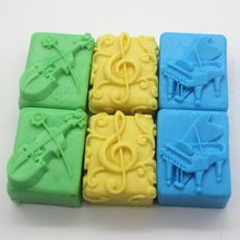 Handmade silicone mold soap mold music box colour random(China (Mainland))