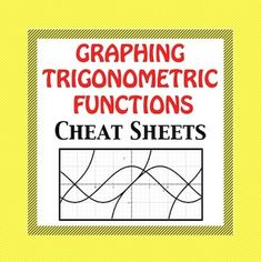 Graphing Trigonometric Functions. Text books make graphing trig functions so complicated. I have simplified the process so that even below average students can follow the process easily and graph trig functions without frustration. I have passed these trig notes out to absent students and NO explanation was necessary! Trig graph paper also is included.