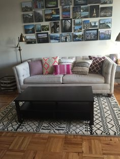 New Living Room Rug Reveal!  http://studiostyleblog.com/2015/02/26/new-living-room-rug-reveal/ #target #aztec