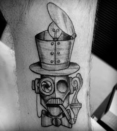 robot tattoo by fernanda prado #tattoo #fernanda #prado #fernandaprado #robot
