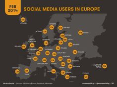 social media users in Europe - FEB 2014