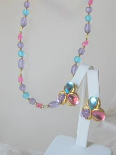 Vintage Trifari Demi Parure Necklace and by AntiquesduJour on Etsy, $35.00