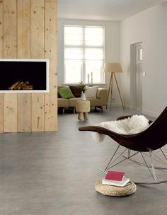 FLOOR Novilon pvc stroken in 'zacht beton'