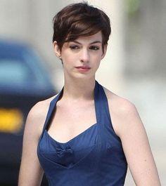Anne Hathaway Pixie Haircuts