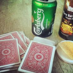 Playing cards while waiting for my flight..
