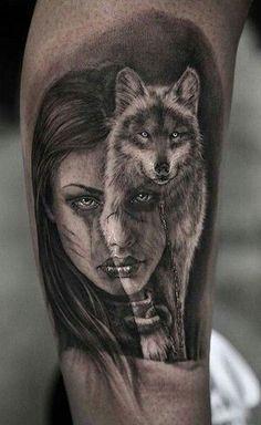As 230 Melhores Tatuagens de lobo da internet [Femininas e Masculinas] | TopTatuagens