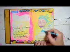 Great way to draw a simpel face, in Art Journaling on your Holiday - the online workshop