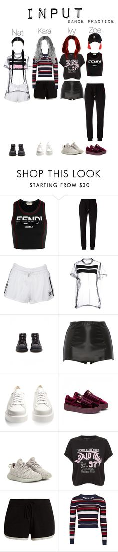 """""""Input's special 100m views Video"""" by nathanaah ❤ liked on Polyvore featuring Fendi, McQ by Alexander McQueen, adidas Originals, VFiles, Givenchy, adidas, Dolce&Gabbana, Robert Clergerie, Puma and Pepper & Mayne"""